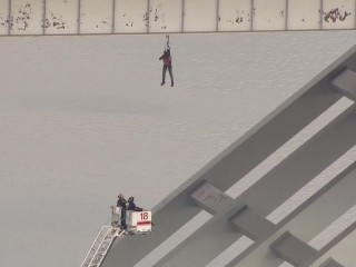 Watch as Worker Rescued From Underneath Houston Bridge