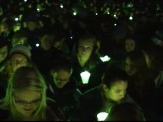 Virginia Tech Holds Candlelit Vigil for Hannah Graham