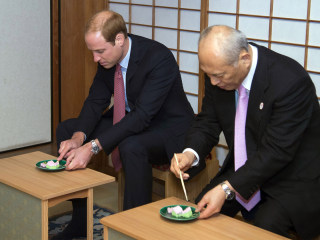 Prince William Visits Traditional Japanese Tea House