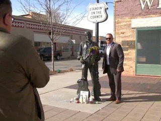 Glenn Frey Fans See 'Fine Sight' on Winslow, Arizona, Street Corner