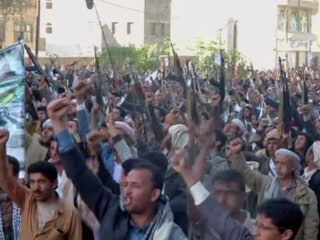 Mass Houthi Rally Against Saudi Airstrikes