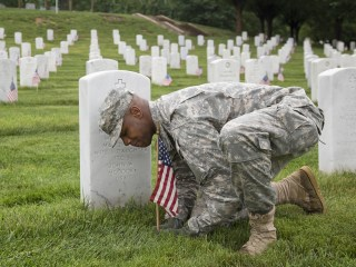 Memorial Day: Soldiers Placing Flags at Arlington Reflect on Service