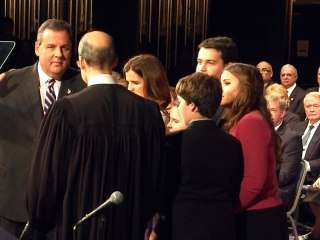 Embattled Gov. Christie Sworn In