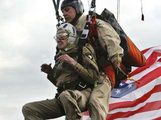 93-Year-Old Vet Parachutes Onto Utah Beach