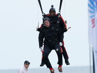 6 Speed Reads: Bush 41 Skydives to Celebrate 90th