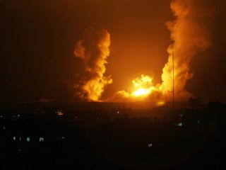 Israel Launches Dozens of Military Strikes