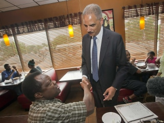 Protesters Hopeful Eric Holder Brings Peace to Ferguson