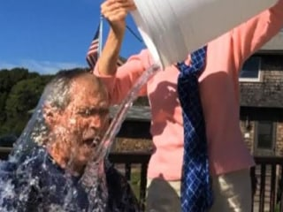 President Bush Takes the Ice Bucket Challenge
