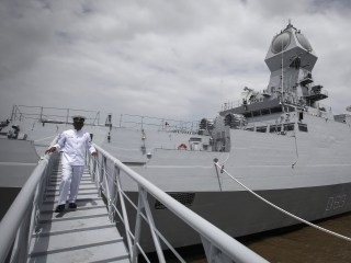 India Shows Off New Warship Amid Rivalry With China