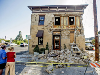 Historic Sam Kee Laundry Building Damaged in Napa Earthquake