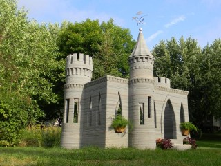Man 3-D Prints Backyard Castle, Plans Two-Story House Next