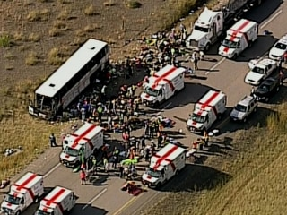 56 Injured, Six Critically, as Tour Bus Rolls Over in Canada