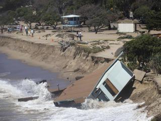 Hurricane Marie Waves Knock Out California Lifeguard Building