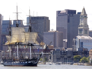 Historic Warship Sails Boston Harbor Ahead of Restoration