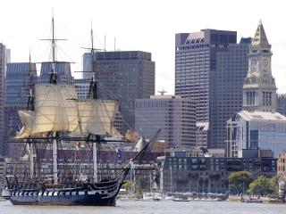 Historic Warship Sails Boston Harbor Ahead of Restoration
