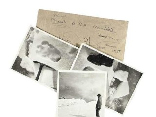 Photos of 'Yeti Footprints' Hit the Auction Block