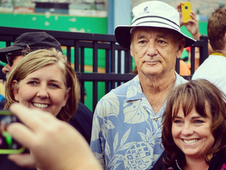 Bill Murray Shows Up at Baseball Game to Pose With Fans