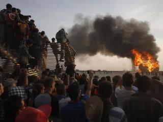 Desert Dwellers: Burning Man Festival in Full Swing