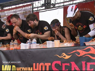 National Chicken Wing Eating Championship Held in Buffalo