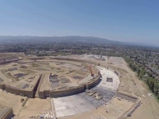 Drone Video Shows Construction Progress on Apple's New Campus 2