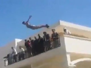 Libyan Militia Celebrate at U.S. Embassy Pool