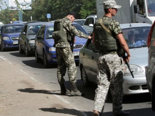 Shells Land Near Ukraine Checkpoint and 'Nobody Bats an Eyelid'