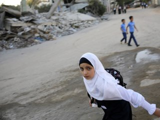 Palestinian Kids Go Back to School After Gaza-Israel War