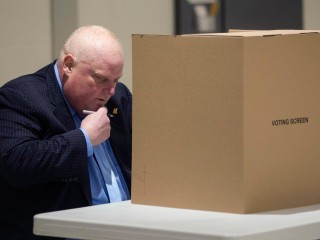 Ailing Rob Ford Takes to the Polls to Support Brother
