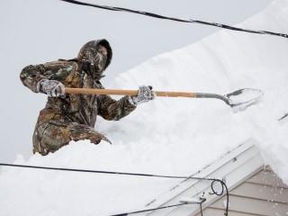 Buffalo's Roofs Creak After Winter Storm Dumps Seven Feet of Snow