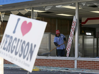 Ferguson Cleans Up After Night of Riots