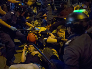 Clashes Erupt as Hong Kong Police Crack Down on Protesters
