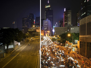 Then and Now: Protest Sites Cleared in Hong Kong
