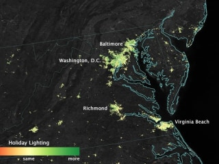 Satellite Images Show How Holiday Lights Brighten the Night