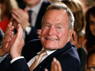 Former President George H.W. Bush In Hospital, Prognosis Called 'Positive'