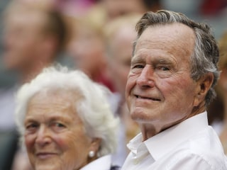 Former President George H.W. Bush Remains In Hospital, 'In Great Spirits'