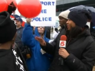 Tensions Rise At Ferguson Police Appreciation Rally