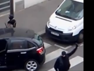New Video Shows Masked Kouachi Brothers After Attack