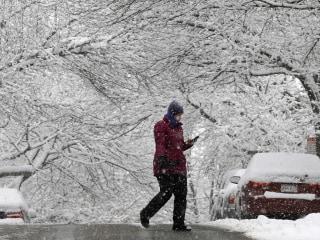 Northeast Snowstorm Creeps Up Coast, Slams New England