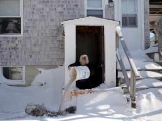 Direct Hit: Coastal Town of Marshfield, Massachusetts, Cleans Up After Blizzard Battering