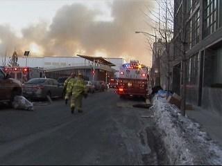 Smoky 4-Alarm Blaze Tears Through Brooklyn Warehouse