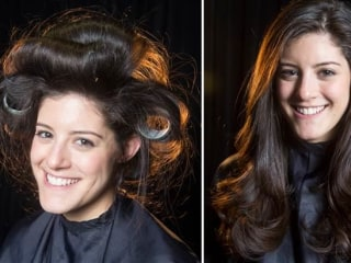 While you were sleeping: Expert tips for turning wet hair into a stylish 'do overnight
