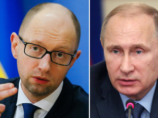 Ukraine's Yatsenyuk Calls Russia's Putin a Threat to Civilization
