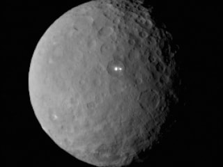 Dawn Probe Spots a Bright Surprise on Ceres: Is It Ice?