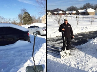 Eastern Kentucky University President Shovels Student's Snowy Driveway
