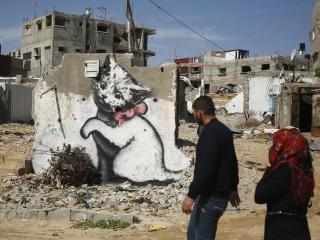 Internet Cats: Banksy Kitten Highlights Gaza's Plight