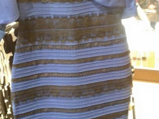 Blue and Black? White and Gold? For Dressmaker, It's All Green