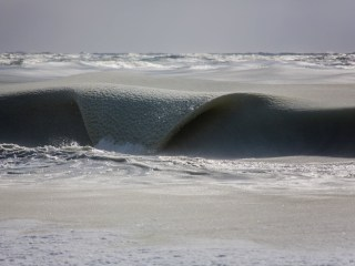 Frozen 'Slurpee' Waves Lick the Shores of Nantucket