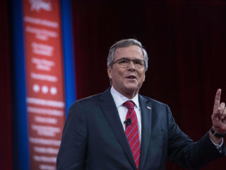 Bush Defends Record to Rowdy CPAC Crowd