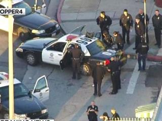 Men in Ski Masks Shoot at Cops in Los Angeles