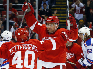 Newcomer Zidlicky Lifts Red Wings Over Rangers in Overtime